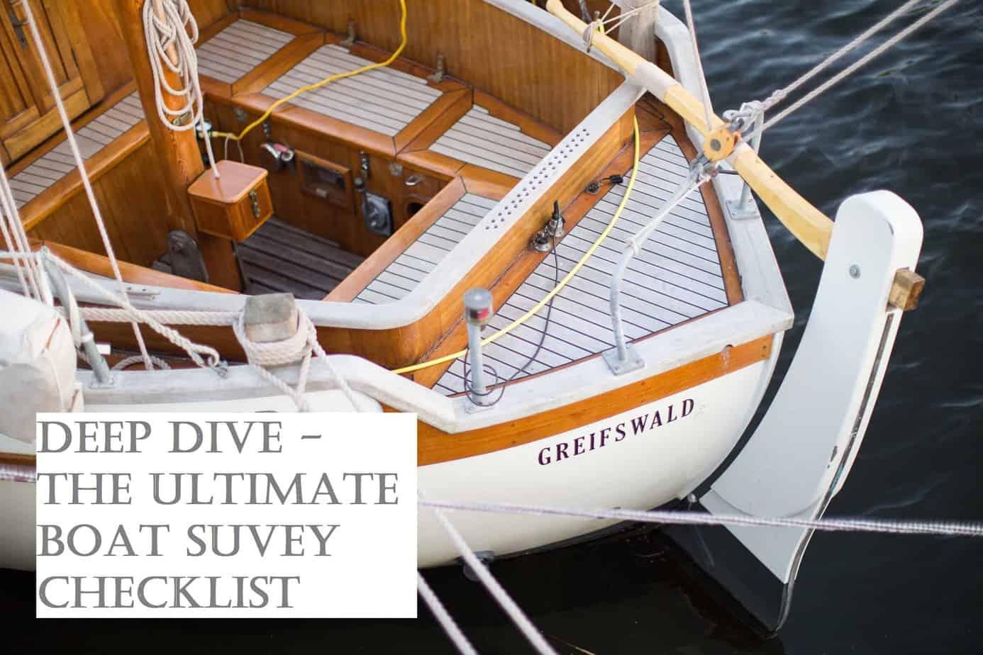 Deep Dive The Ultimate Boat Survey Checklist