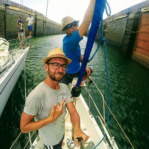 Boat hitchhiking