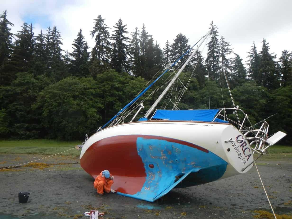 How to careen sailboat