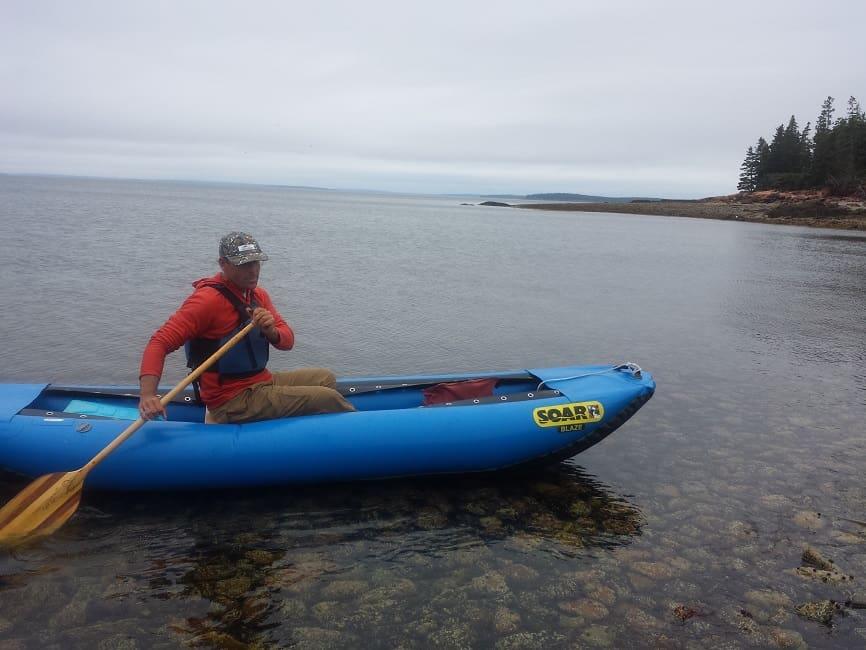 SOAR's inflatable canoe - a go anywhere adventure skiff